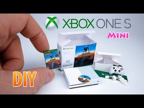 DIY Realistic Miniature Xbox One S | DollHouse Unboxing