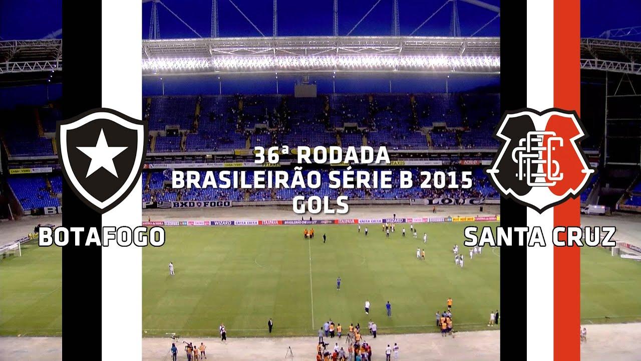 Gols - Botafogo 0 x 3 Santa Cruz - Brasileirão Série B - 14/11/2015