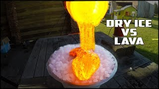 experiment lava vs dry ice