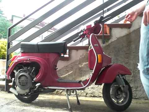 vespa pk 50s avviamento a freddo cold start youtube. Black Bedroom Furniture Sets. Home Design Ideas