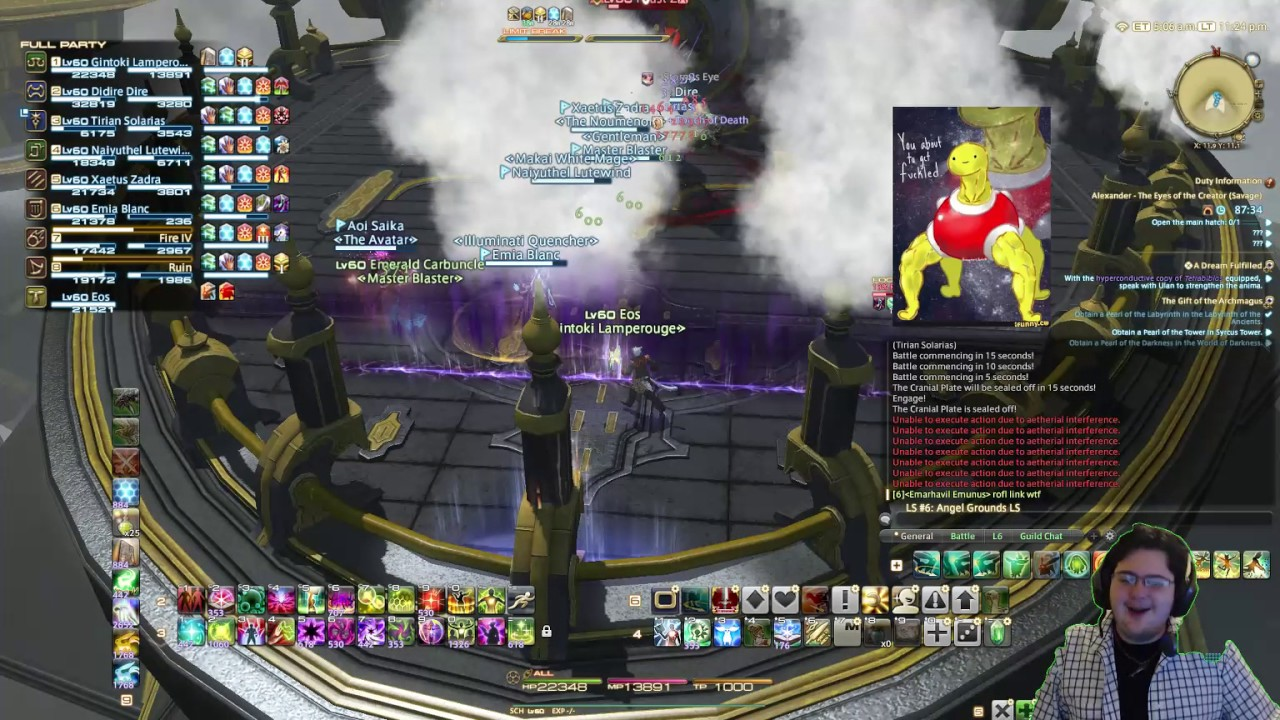 Idiot Locks Himself Out of Faust Z (FFXIV Stream Highlight)