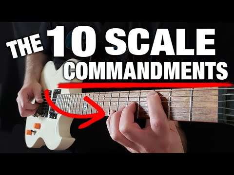 """The """"10 Commandments"""" of Learning Scales (THOU SHALT!!)"""