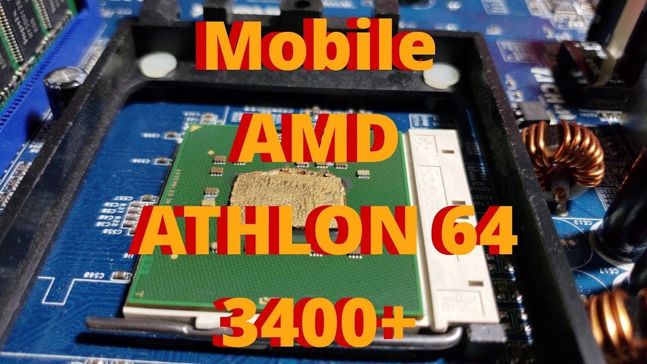 Mobile Athlon 64 3400 Overclocked Benchmarked Youtube