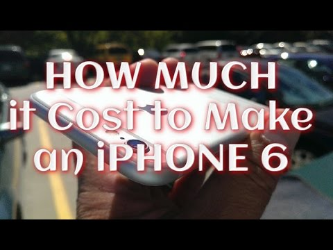 how much are the iphone 6 iphone 6 amp 6plus how much does it cost to make it 7542