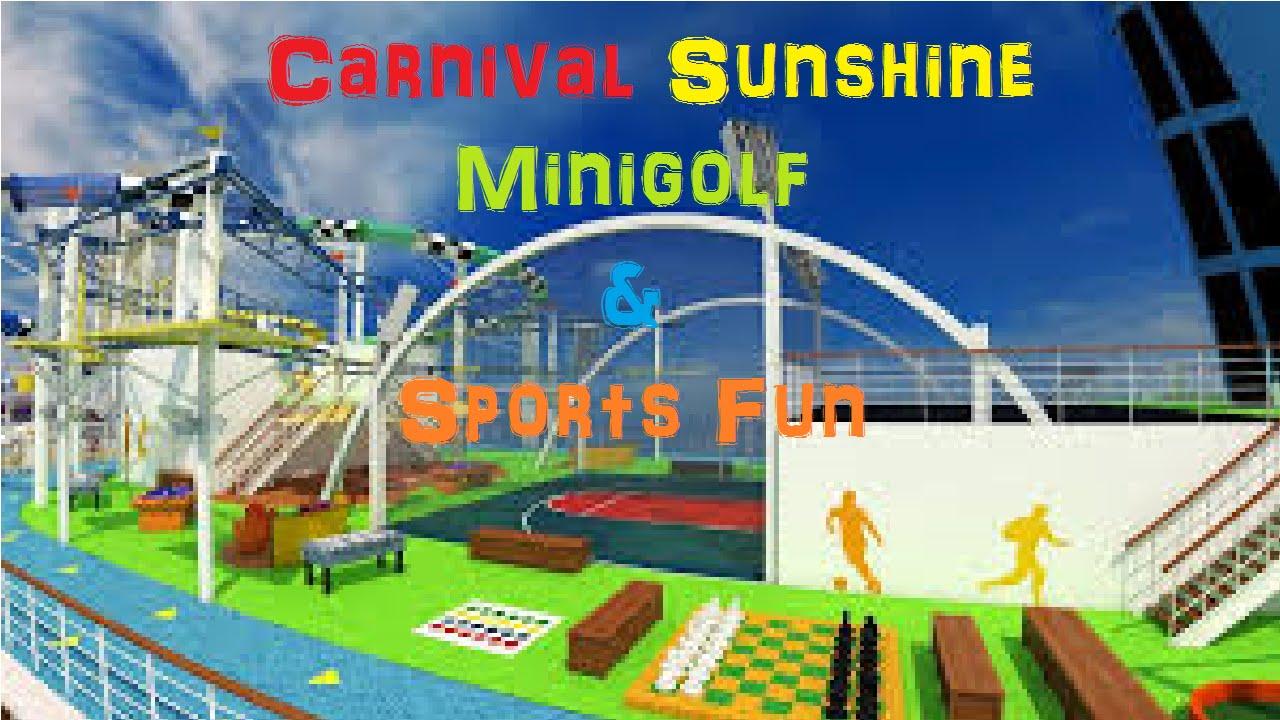 Carnival Sunshine Sports Deck Fun Very Windy Mini Golf Youtube