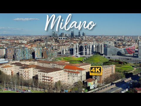 Milano Italia An Evolving City | 4K 60FPS drone video of the skyline