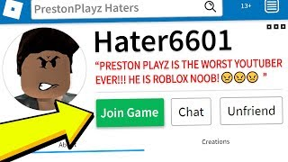 PLAYING ROBLOX with MY BIGGEST HATER!