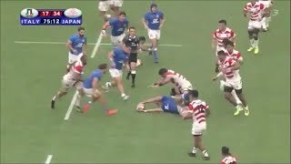 Kazuki Himeno winning turnovers vs Italy 2018