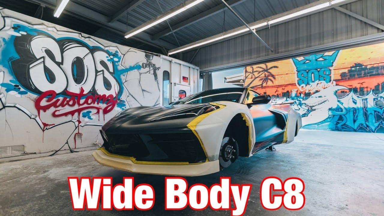 Building The First WideBody 2020 Corvette C8