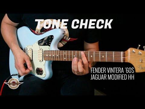 TONE CHECK: Fender Vintera '60s Jaguar Modified HH Guitar Demo | No Talking