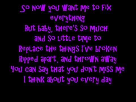 I Think About You Everyday Lyrics Youtube
