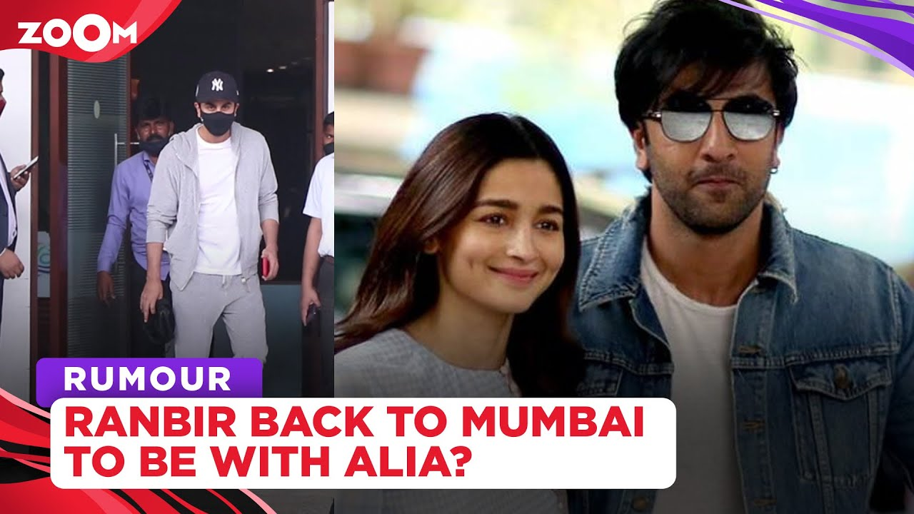 Ranbir Kapoor flies back to Mumbai to be with ladylove Alia Bhatt after she was hospitalized