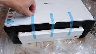 ricoh sp 111 laser print scan copy $65 обзор распаковка