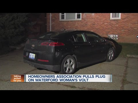 Homeowners association pulls plug on Waterford woman's Volt