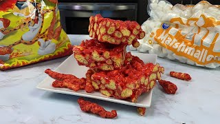 Flamin&#39 Hot Cheetos Marshmallow Treats