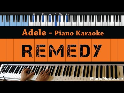 Adele - Remedy - LOWER Key (Piano Karaoke / Sing Along)