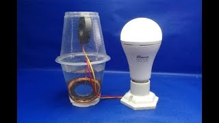 salt water with light bulbs Free energy - Experiment DIY science projects at home