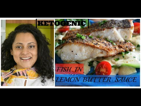 Fish In Lemon Butter Sauce | Ketogenic  | LCHF | Low Carb