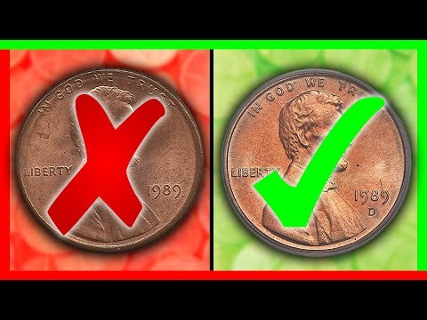 WHICH ARE RARE PENNIES WORTH MONEY? 1989 PENNY VALUE