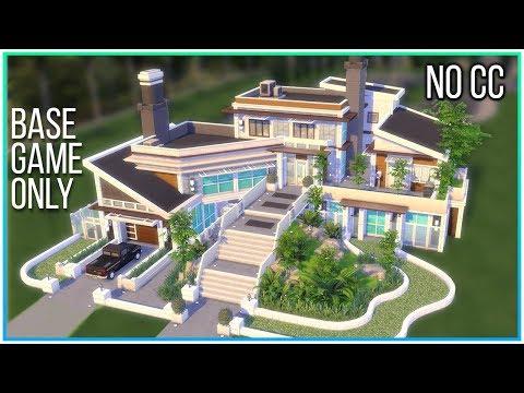 Sims 4 Speed Build - Modern Base Game Mansion | Kate Emerald