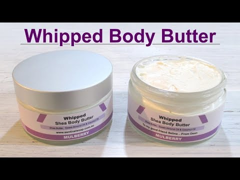 DIY Whipped Body Butter, Sweet Almond Oil, Coconut Oil, Shea Butter