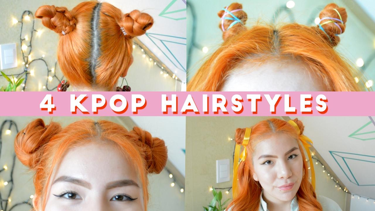 4 Kpop Hairstyles Twice I O I Wjsn Under 5 Minutes Youtube