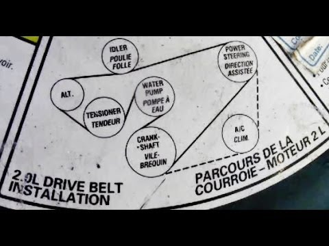 03 focus belt diagram wiring colour codes how to replace serpentine youtube