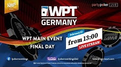 WPT GERMANY Main Event - FINAL DAY - EN