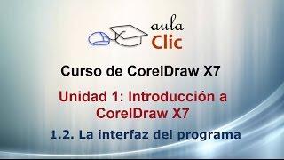 Curso de CorelDraw X7. 1.2. La interfaz del programa.
