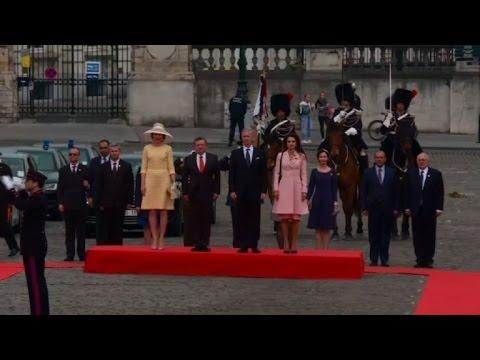 King Abdullah of Jordan and his wife visit Brussels