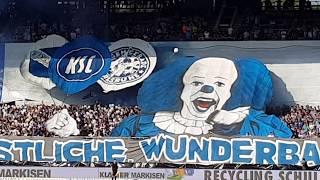18.04.2018 Karlsruher SC - Waldhof Mannheim 4:0, Choreo, Choreografie, Support, Pyro, Pyrotechnik