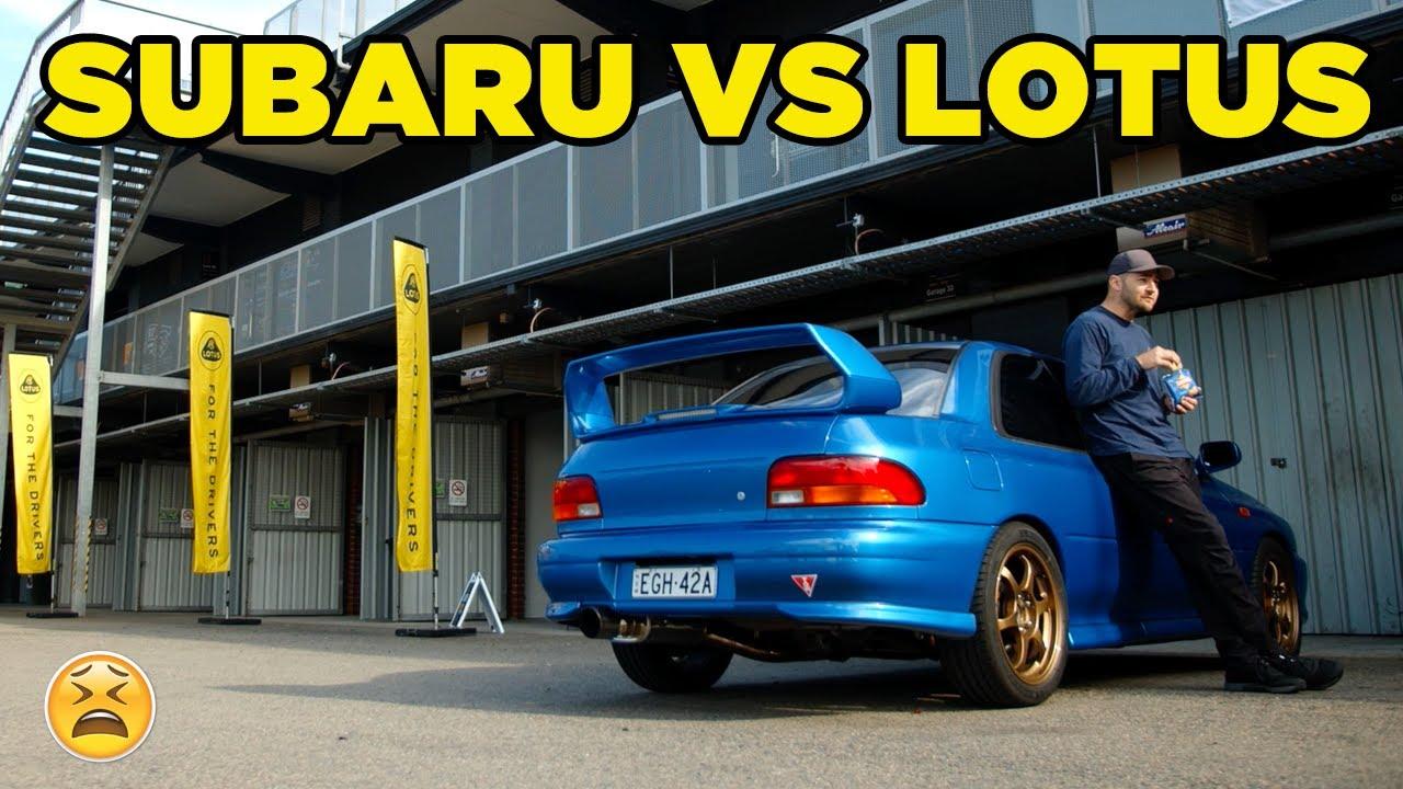 WRX VS Lotus = A very BAD DAY!