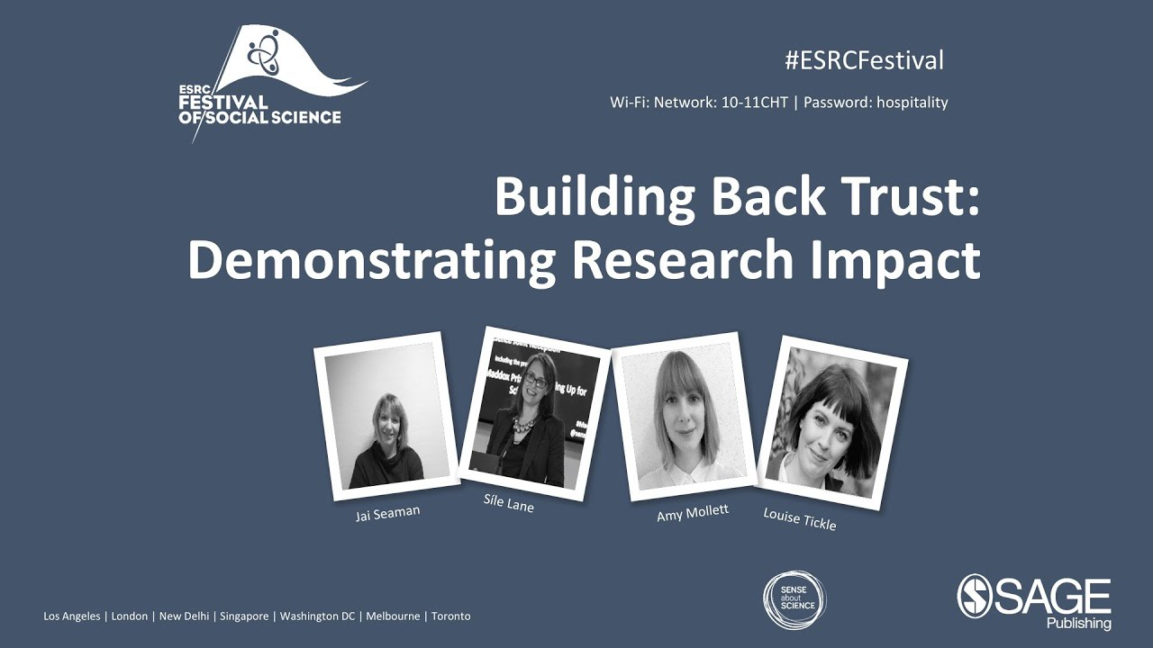 Building Back Trust: Demonstrating Research Impact LIVE