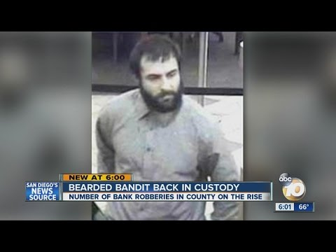 Bearded Bandit Robs Banks In California