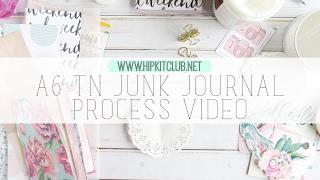 a6 traveler s notebook junk journal process video   hip kit club