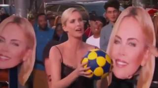 Charlize Therons mom lost all sh*it in Beyonce and Jay Z concert,playing south African bas