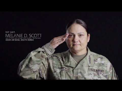 1st Sgt. Melanie Scott - 2016 USO Soldier of the Year