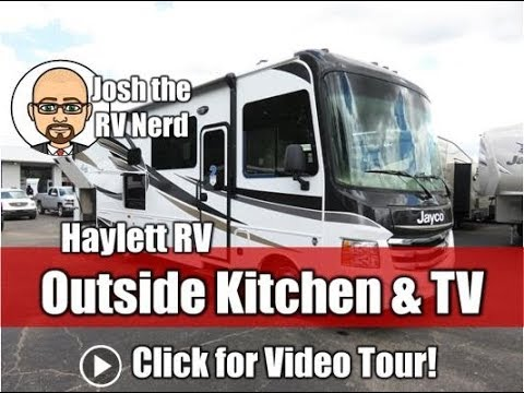 2019 Jayco 29S Alante Full Wall Slide Outside Kitchen & Entertainment Class A Gas Motorhome