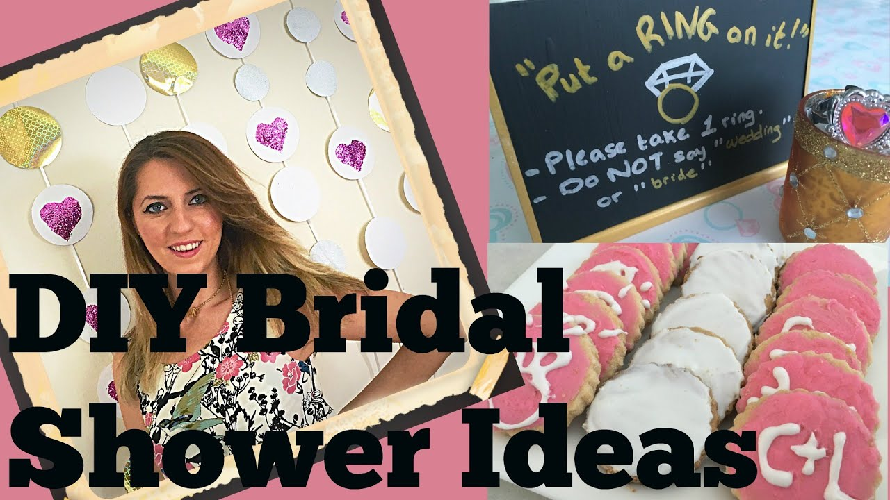 DIY Bridal Shower Ideas (Tutorial) | Decorations, Games ...