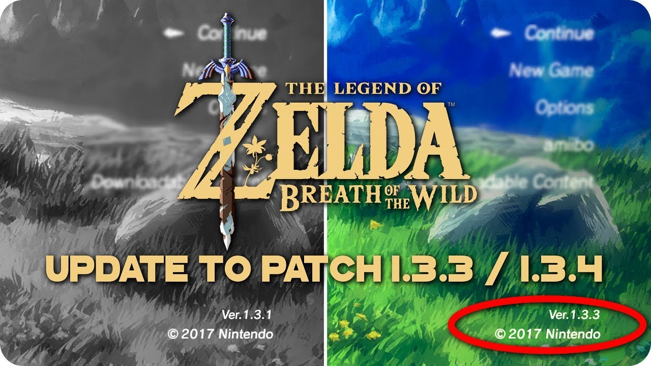 How To UPDATE Zelda Breath Of The Wild to 1 3 3 / 1 3 4 on PC | MapleSeed  CEMU Tutorial