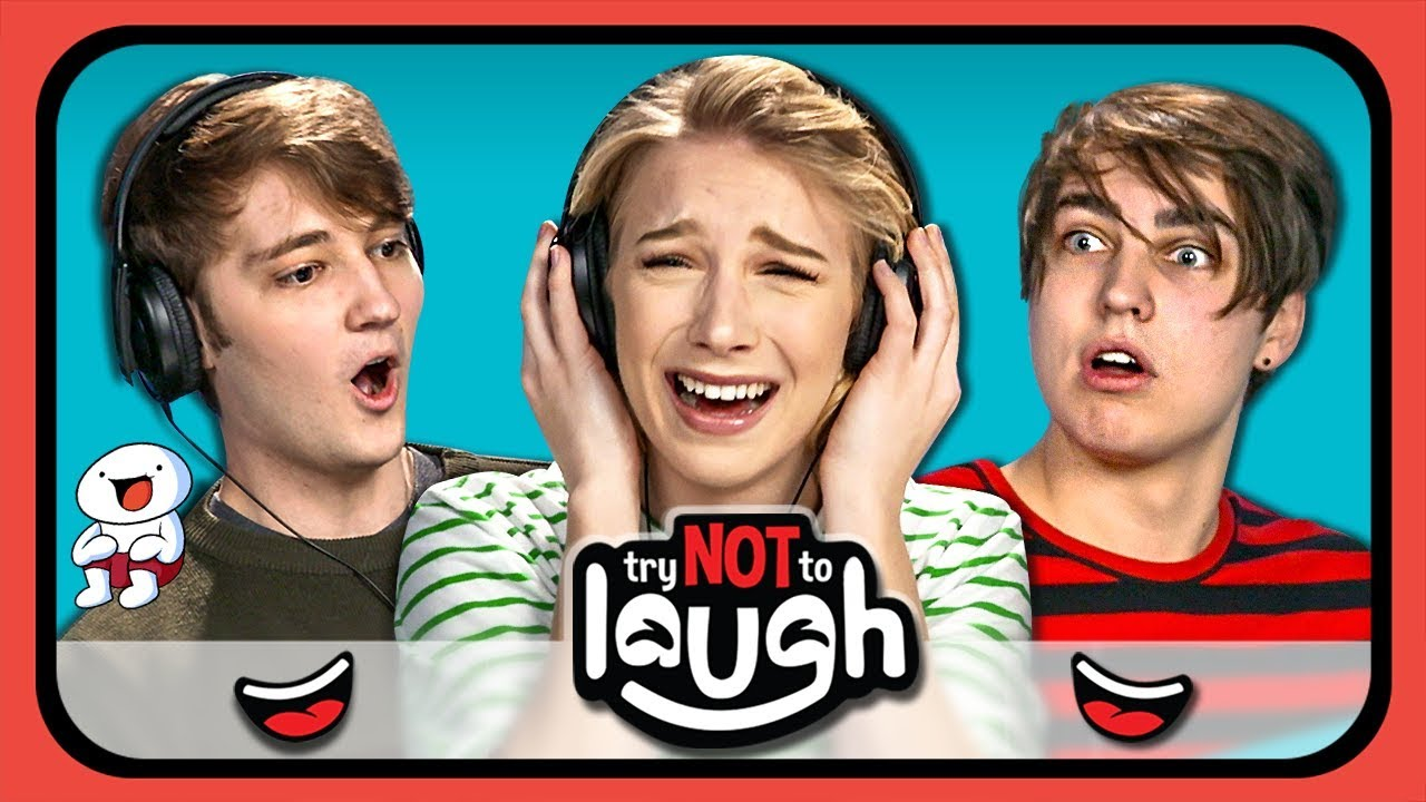 YouTubers React To Try To Watch This Without Laughing Or
