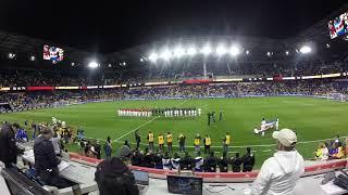 Previa Himnos y partido Colombia Costa Rica