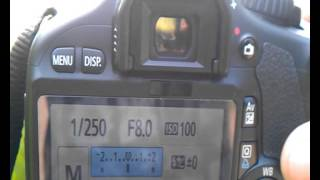 How to Canon digital camera adjustment settings for HDR photography video tutorial