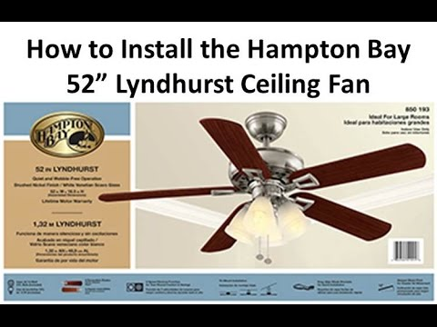 How to install a ceiling fan lyndhurst youtube how to install a ceiling fan lyndhurst mozeypictures Image collections