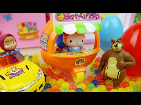 Thumbnail: Hello Kitty Orange car and Baby doll Orbeez surprise eggs toys play