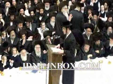 Purim Tish 5770 with Satmar Rebbe R' Zalman Leib Teitelbaum