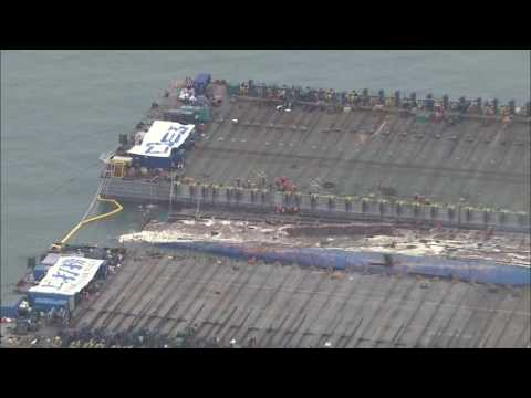 Sewol Ferry Raised