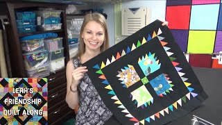 Quilting a Bears Claw Block on the Longarm - Friendship Quilt Along