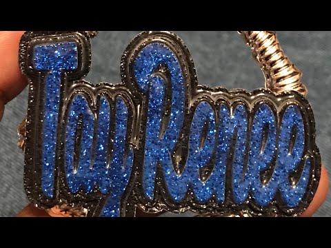 Diy NamePlate Earrings