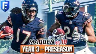 Madden 18 Bears Franchise Year 3 - Preseason Recap (Rookies, Standout, Final Cuts)   Ep.40 2017 Video